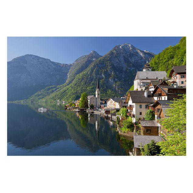 Produktfoto Fototapete Berge selbstklebend - Hallstätter See und Bergblick