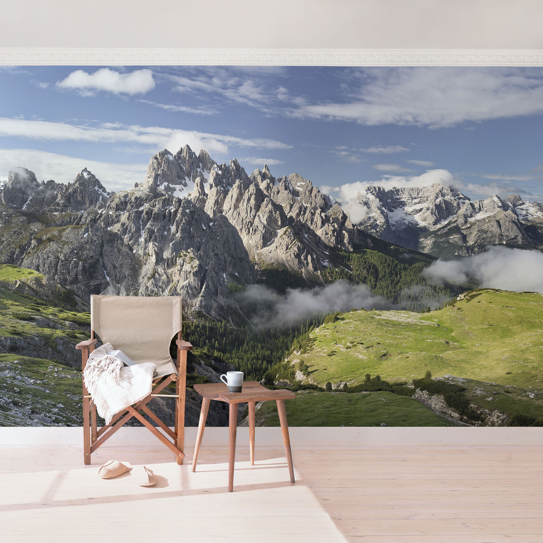 fototapete berge selbstklebend italienische alpen. Black Bedroom Furniture Sets. Home Design Ideas