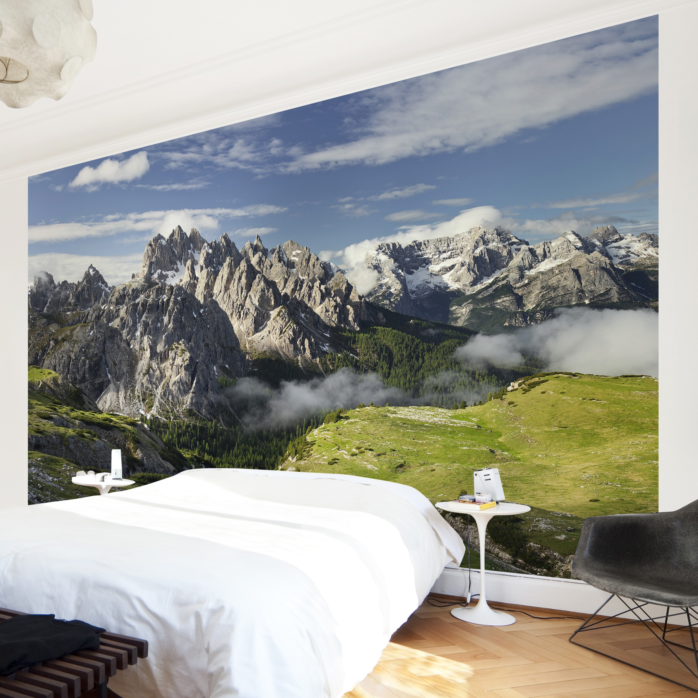 fototapete berge selbstklebend italienische alpen. Black Bedroom Furniture Sets. Home Design Ideas