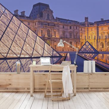 Product picture Photo Wall Mural Louvre Paris at night