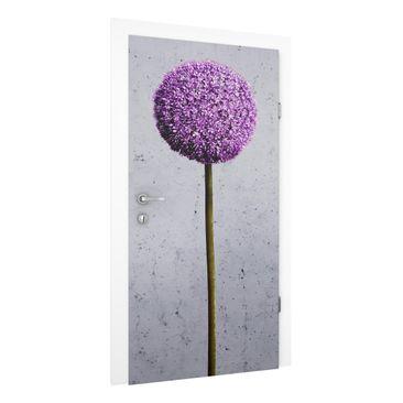 Immagine del prodotto Carta da parati per porte Premium - Allium Flower - 215cm x 96cm