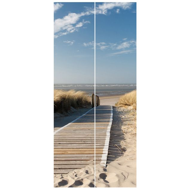Produktfoto Vliestapete Tür Premium - Ostsee Strand - Türtapete