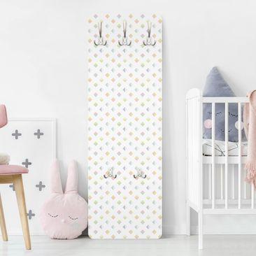 Produktfoto Garderobe - Pastell Dreiecke - Muster Weiß