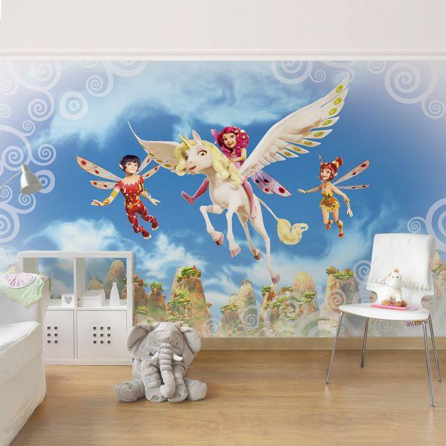 Produktfoto Tapete Kinderzimmer selbstklebende Tapete - Fototapete - Mia and me - Über den Wolken