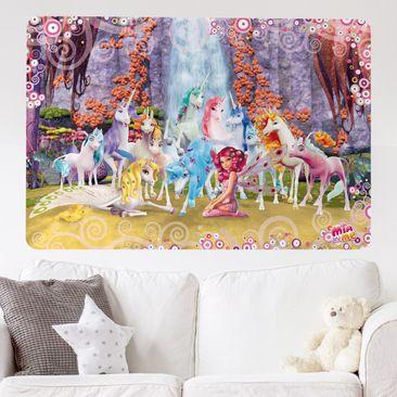 Produktfoto Selbstklebendes Wandbild Mia and Me - Mia und Onchao mit den Einhörnern von Centopia