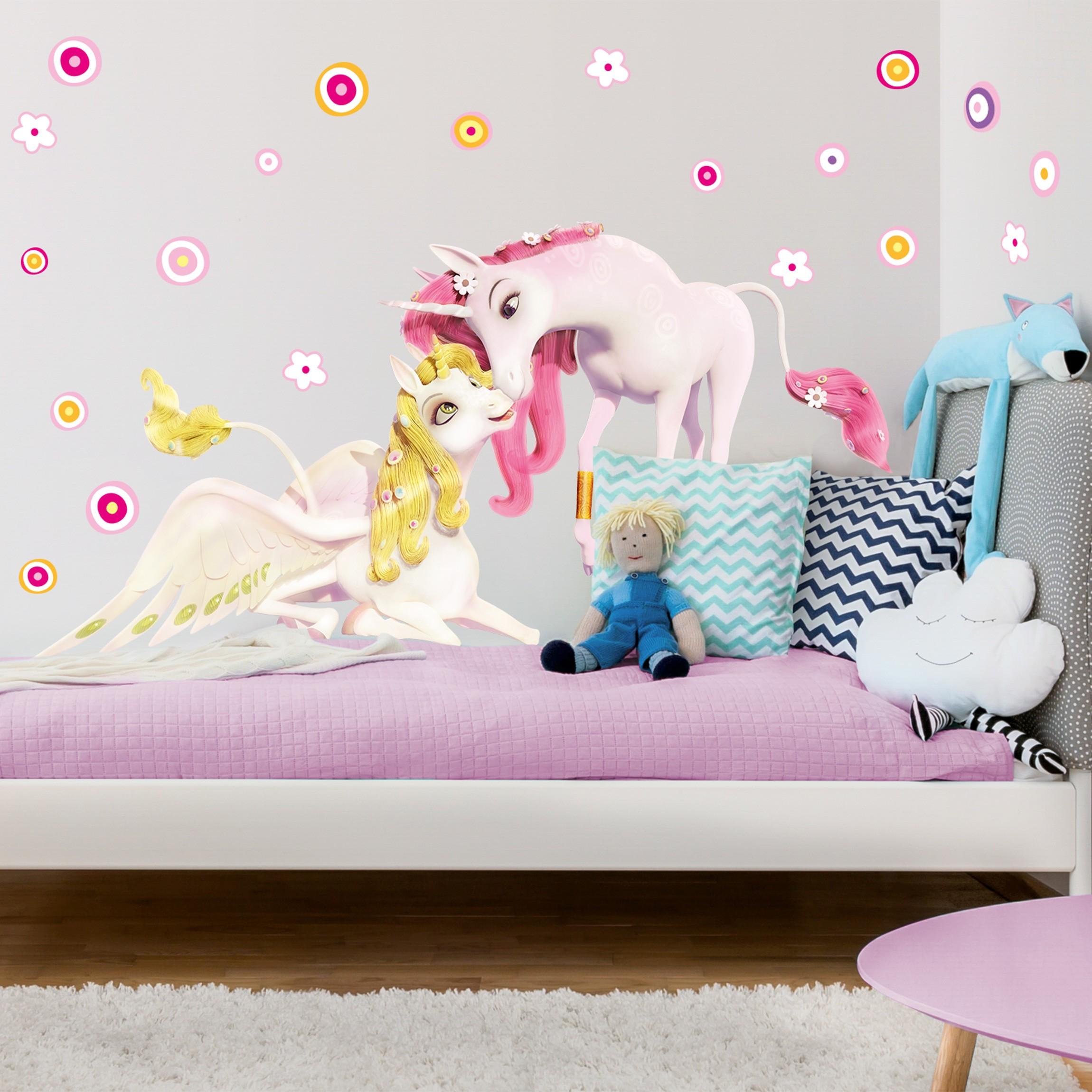 wandtattoo kinderzimmer mia and me einh rner onchao und lyria. Black Bedroom Furniture Sets. Home Design Ideas