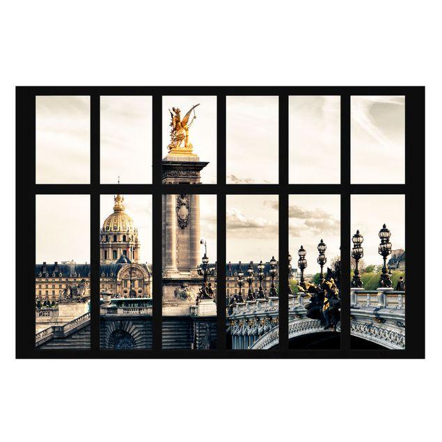 Produktfoto Selbstklebende Paris Tapete - Fenster...