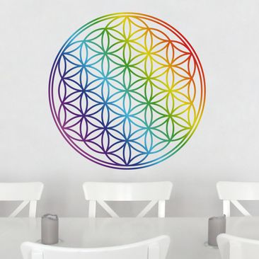 Product picture Wall Decal Flower of Life rainbow color