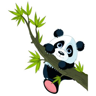 Product picture Window Sticker Climbing Panda