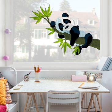 Product picture Window Sticker Sleeping Panda
