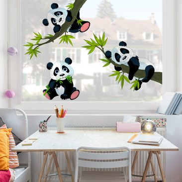 Product picture Window Sticker Panda bear set