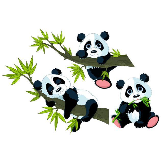 Produktfoto Wandtattoo Kinderzimmer Pandabären Set