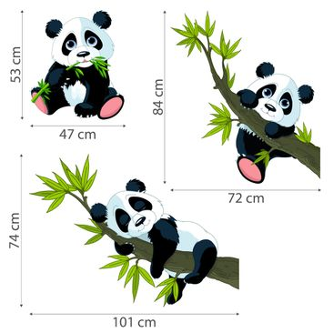 Product picture Wall Decal Panda bear set