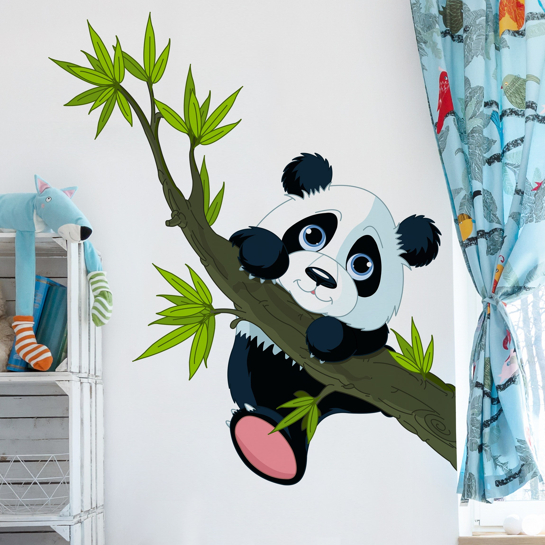 wandtattoo kinderzimmer kletternder panda. Black Bedroom Furniture Sets. Home Design Ideas
