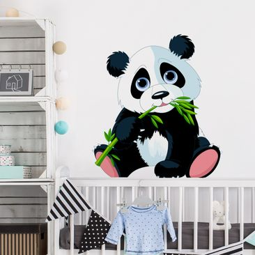 Product picture Wall Decal Nibbling Panda