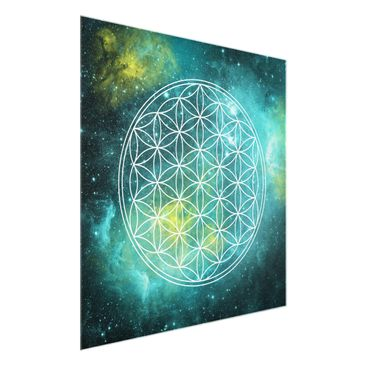 Product picture Print on Glass - Flower of life in the...
