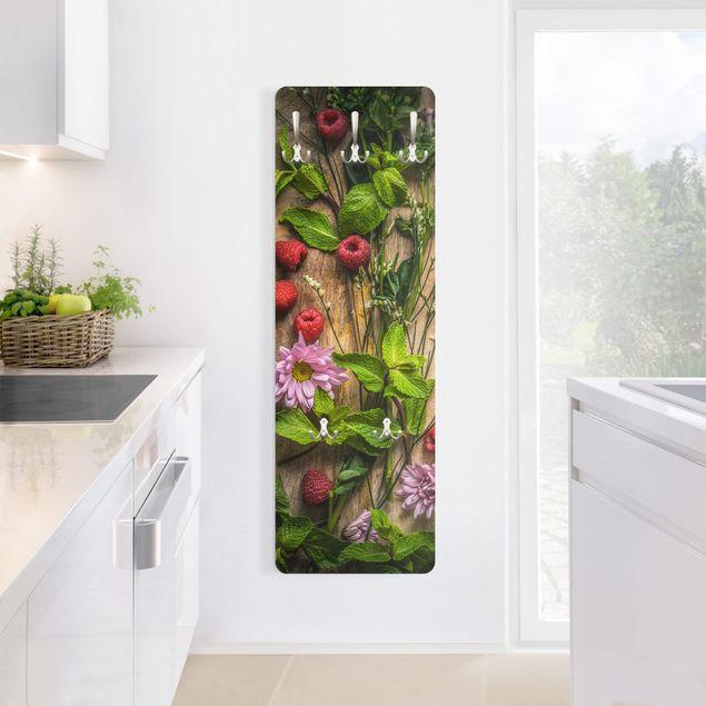 Produktfoto Garderobe - Blumen Himbeeren Minze