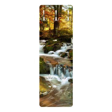 Produktfoto Garderobe - Wasserfall herbstlicher Wald