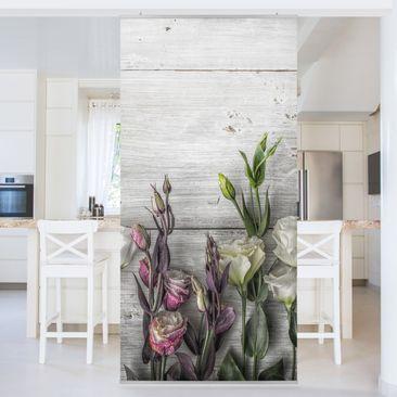 Immagine del prodotto Tenda a pannello Tulip Pink Shabby wood optic 250x120cm