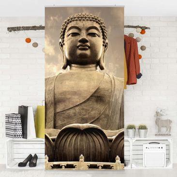 Produktfoto Raumteiler - Großer Buddha Sepia 250x120cm