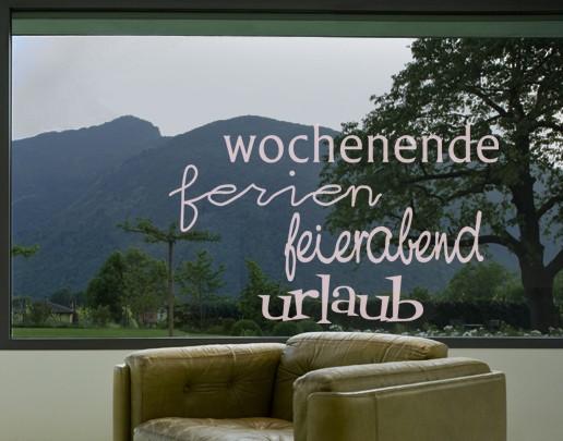 Produktfoto Fensterfolie - Fenstertattoo No.UL34 Urlaub & More - Milchglasfolie