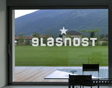 Produktfoto Fensterfolie - Fenstertattoo No.UL33 Glasnost - Milchglasfolie