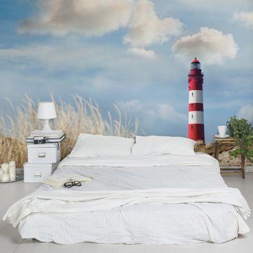 Produktfoto Leuchtturm Fototapete selbstklebend - Leuchtturm in den Dünen
