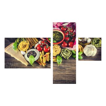 Product picture Glass Wall Art Collage 3pcs.- Pasta -...