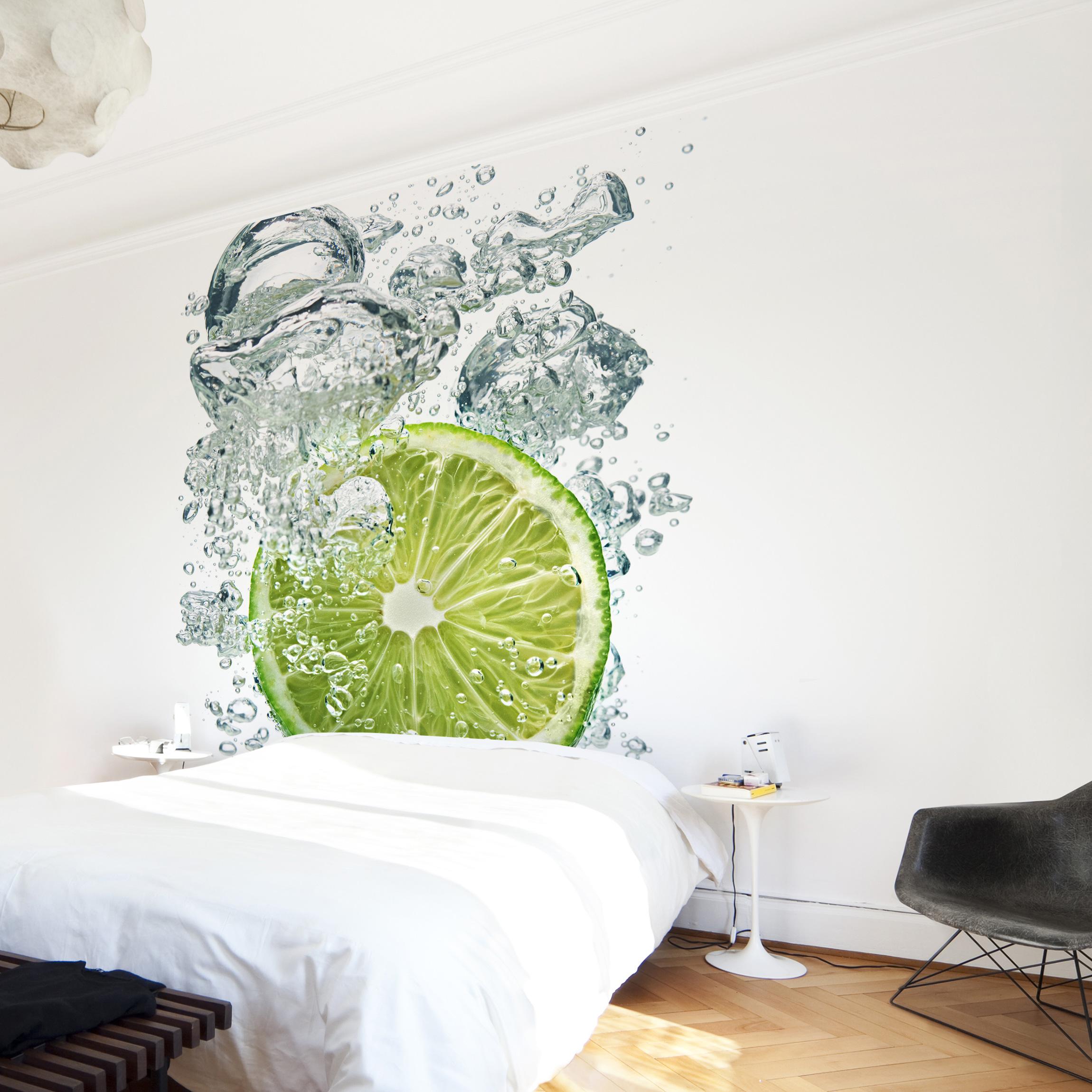 k chentapete selbstklebend lime bubbles. Black Bedroom Furniture Sets. Home Design Ideas