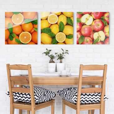 Product picture Print on Glass 3pcs. Set - Fruits Trio -...