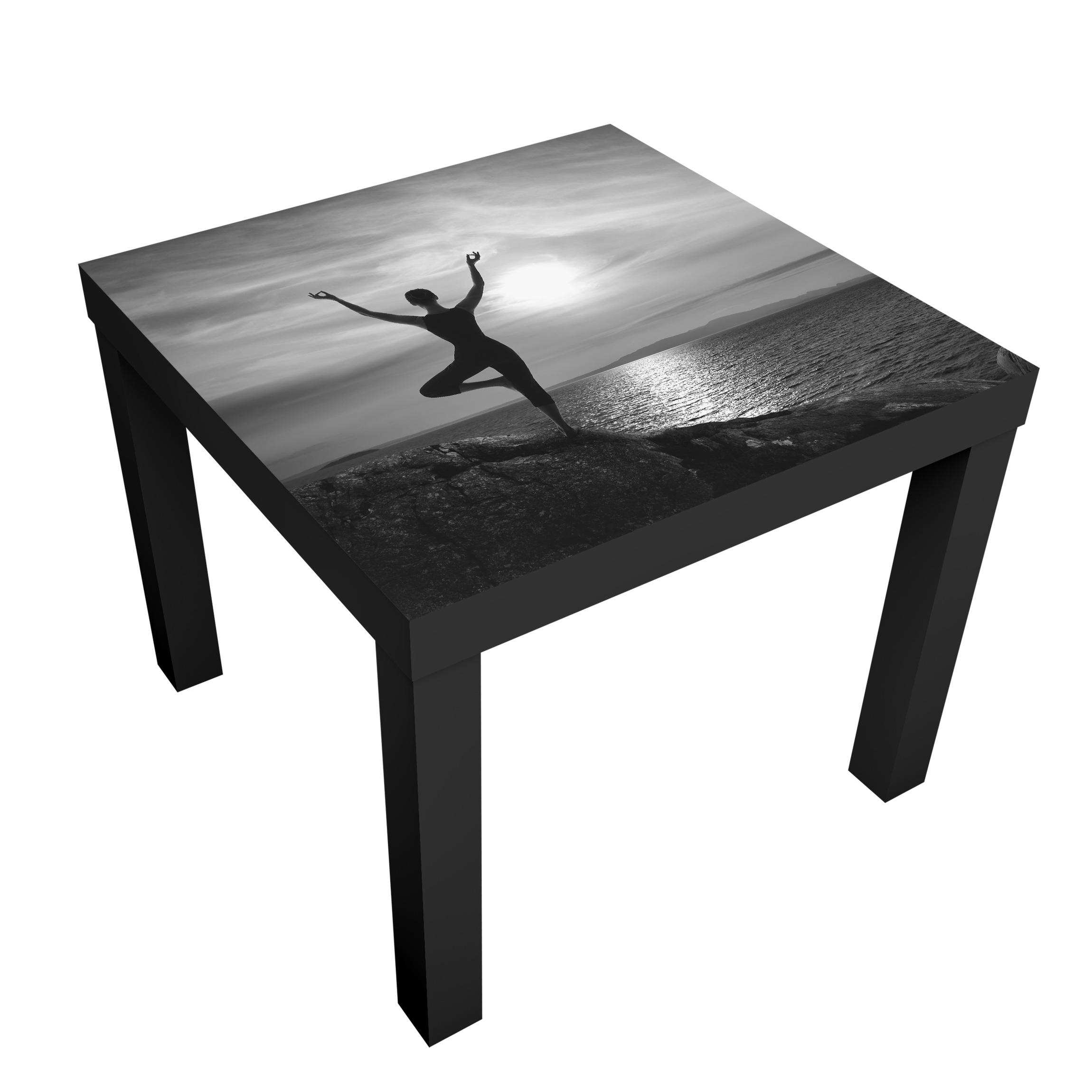 Beistelltisch yoga schwarz weiss tisch for Tisch schwarz