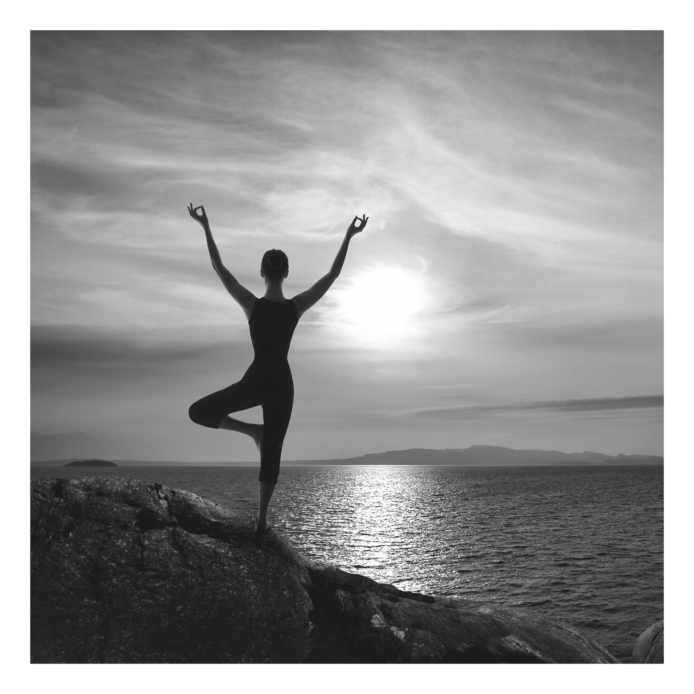 Beistelltisch Yoga Schwarz Weiss Tisch