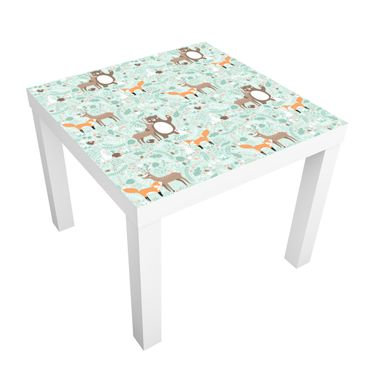Immagine del prodotto Tavolino design Children's pattern Forest Friends with wild animals 55x55x45cm