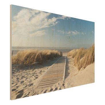 Produktfoto Holzbild - Ostsee Strand - Quer 2:3