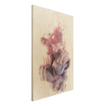 Produktfoto Holzbild - Abstrakte flüssige Farbverläufe - Hoch 3:2
