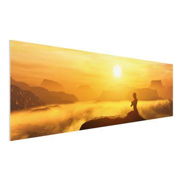 Produktfoto Forex Fine Art Print - Yoga Meditation - Panorama Quer