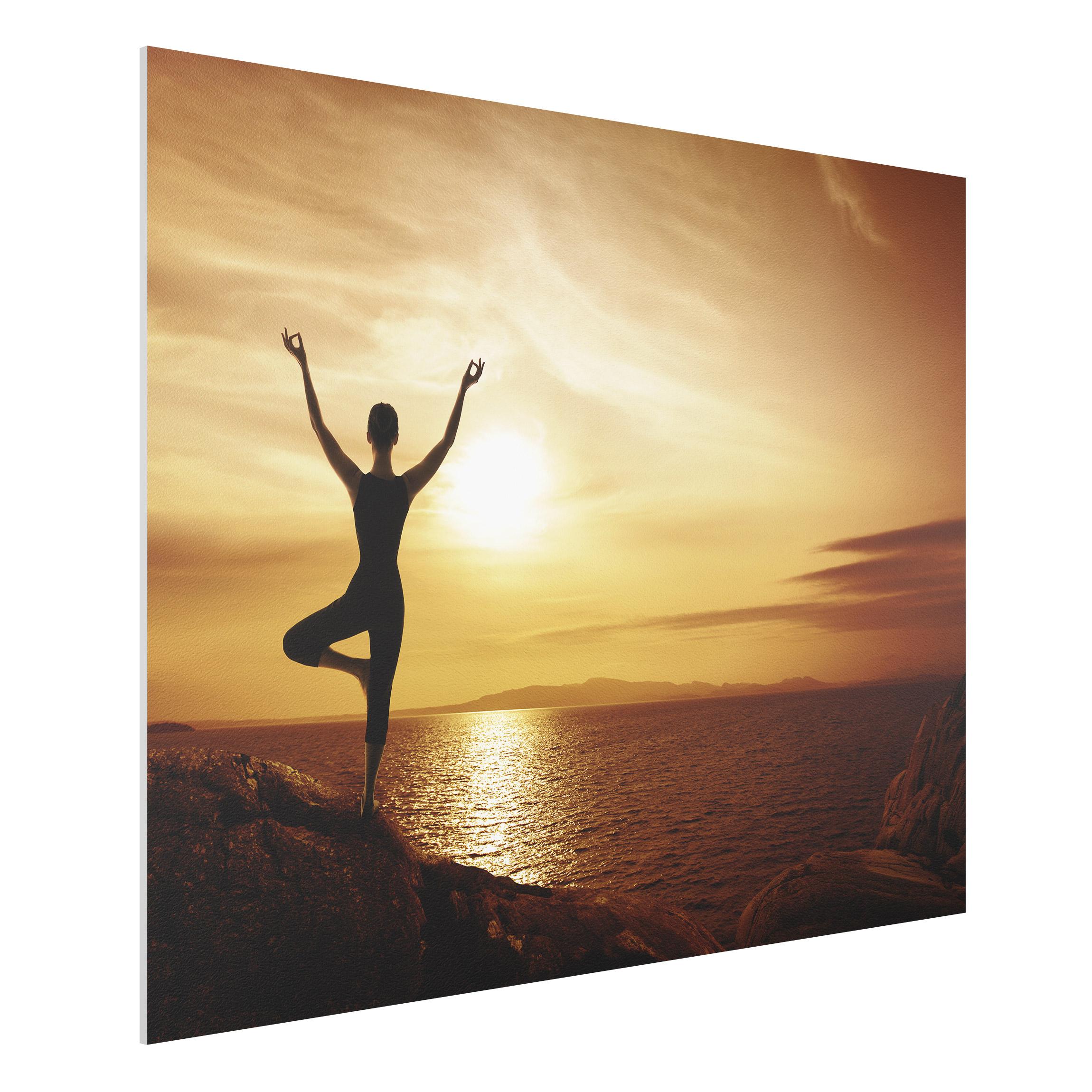 forex fine art print yoga wide 3 4. Black Bedroom Furniture Sets. Home Design Ideas