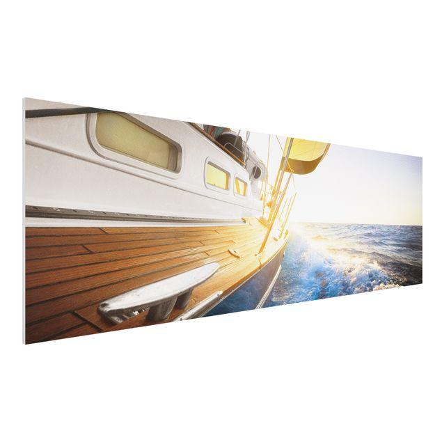 Forex Fine Art Print - Segelboot auf...