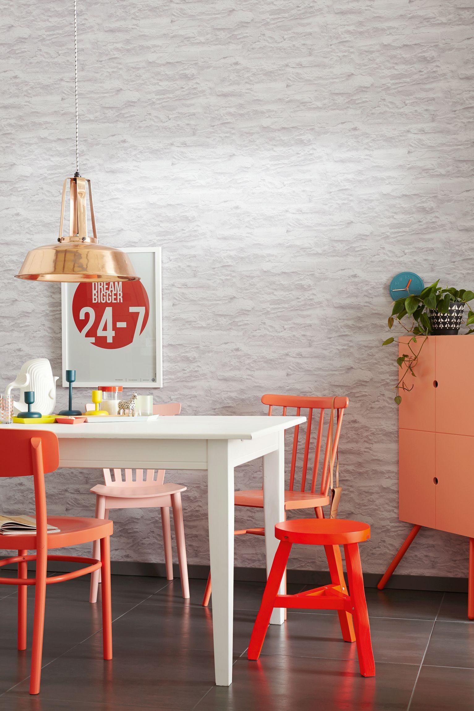 sch ner wohnen strukturtapete urban chic creme grau kollektion 7. Black Bedroom Furniture Sets. Home Design Ideas