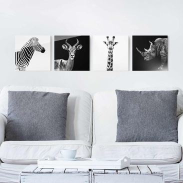 Product picture Glass Print Set - Safari Quartet - 4pcs....