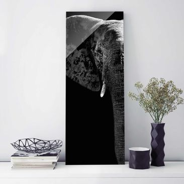Product picture Print on Glass - African Elephant...