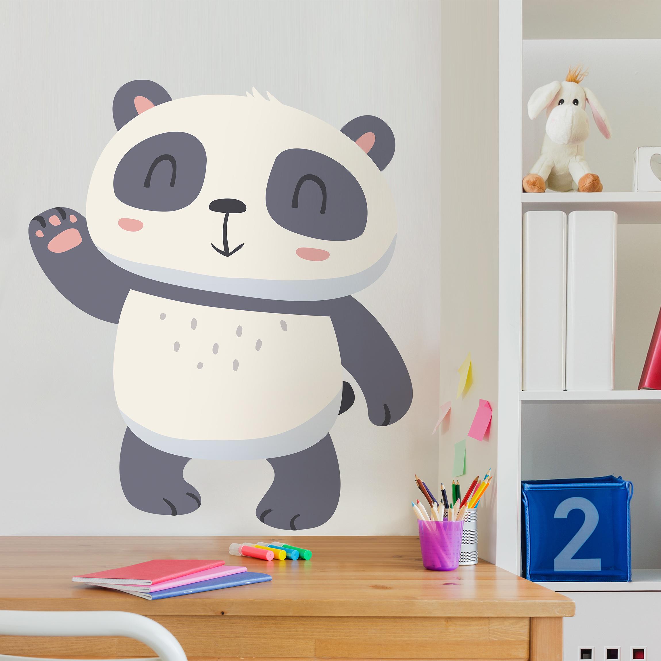 Wandtattoo kinderzimmer winkender panda - Wandtatoos kinderzimmer ...