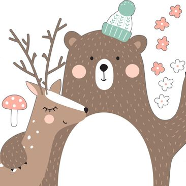 Product picture Wall Decal Children's pattern Forest...