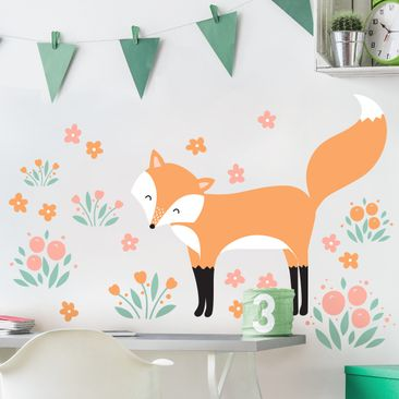 Immagine del prodotto Adesivo murale Children's pattern Forest friends with fox