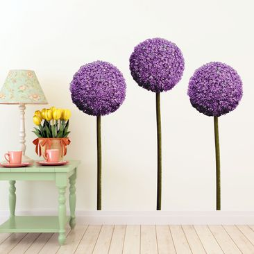 Product picture Wall Decal Allium Flower Set of 3