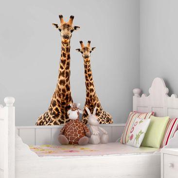 Produktfoto Wandtattoo Giraffe Portrait zweier Giraffen