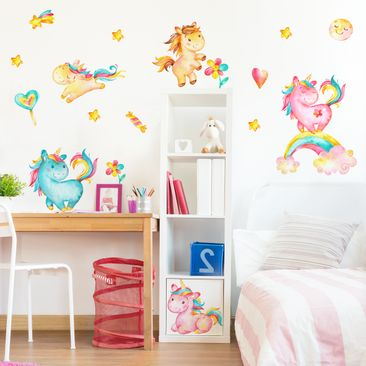 Product picture Wall Decal Unicorn watercolor Nursery...