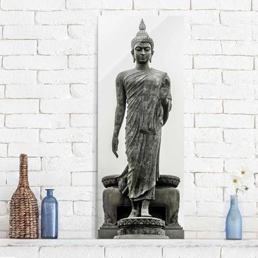 Produktfoto Glasbild - Buddha Statue - Panorama Hoch