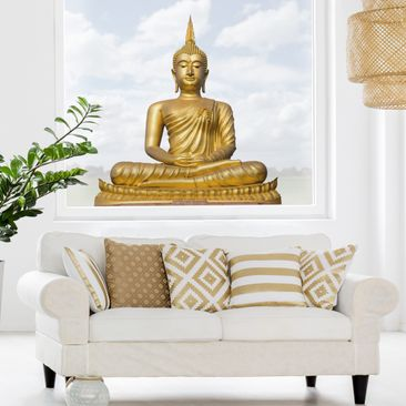 Product picture Window Sticker Golden Buddha
