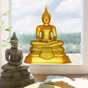 Product picture Window Sticker Golden Zen Buddha